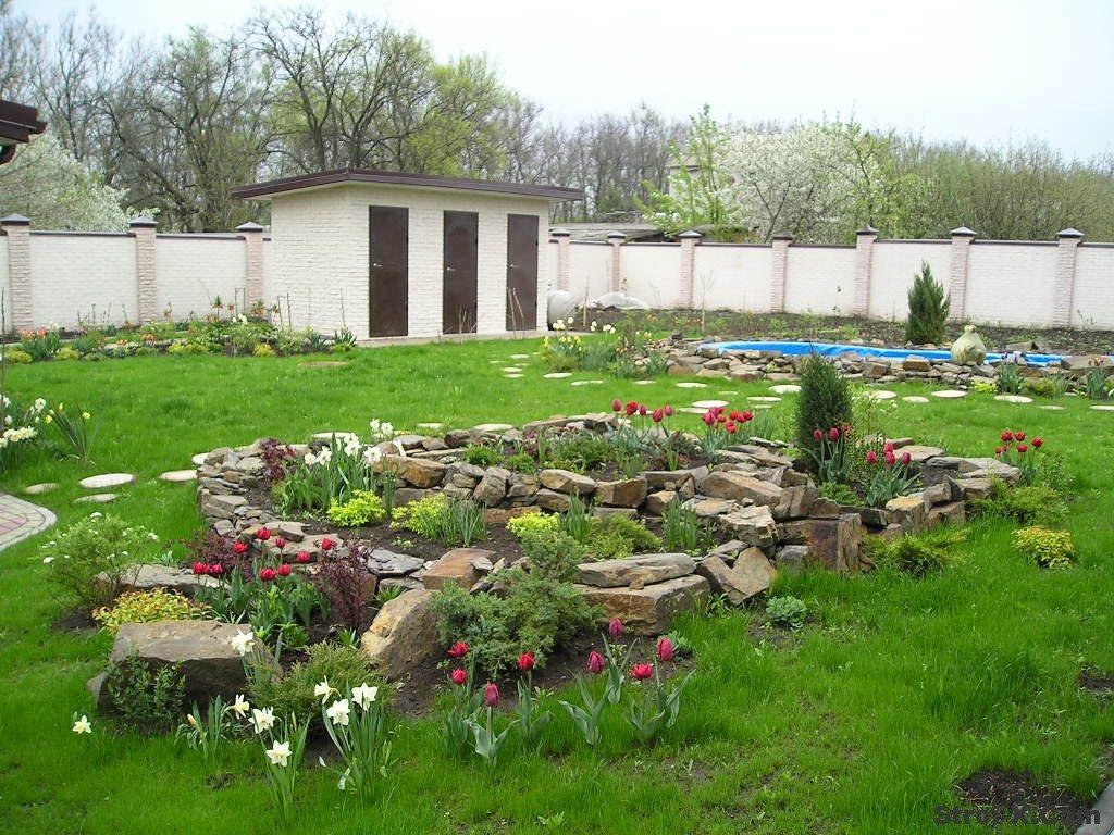 Обустройство двора дома в деревне своими руками  625