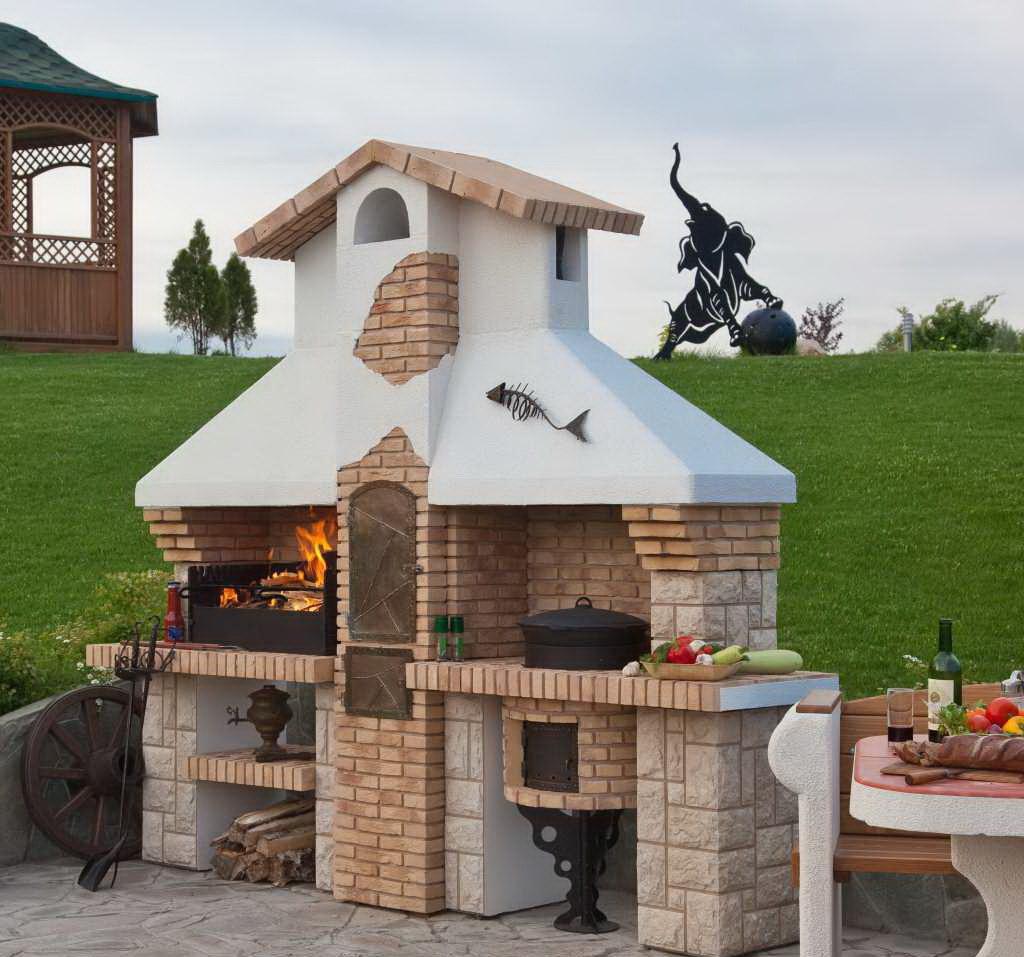 Выложить барбекю на даче фото