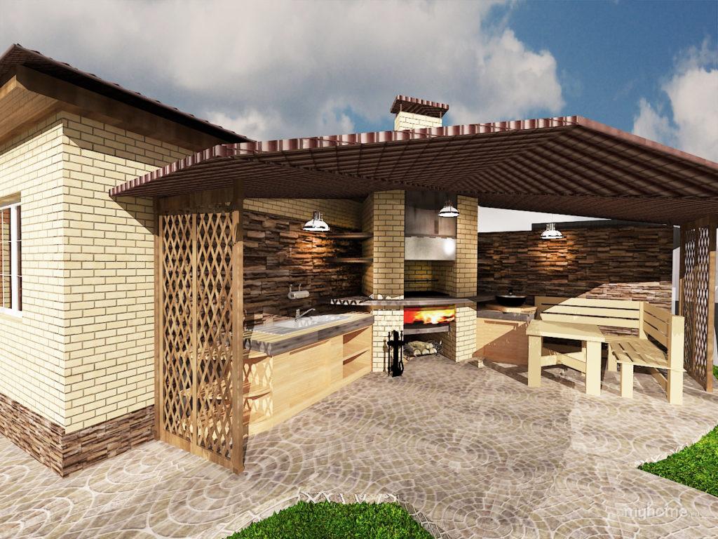 Как красиво благоустроить двор частного дома