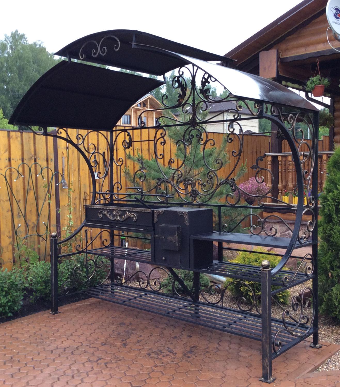 Оформить зону барбекю загородный дом с террасой барбекю
