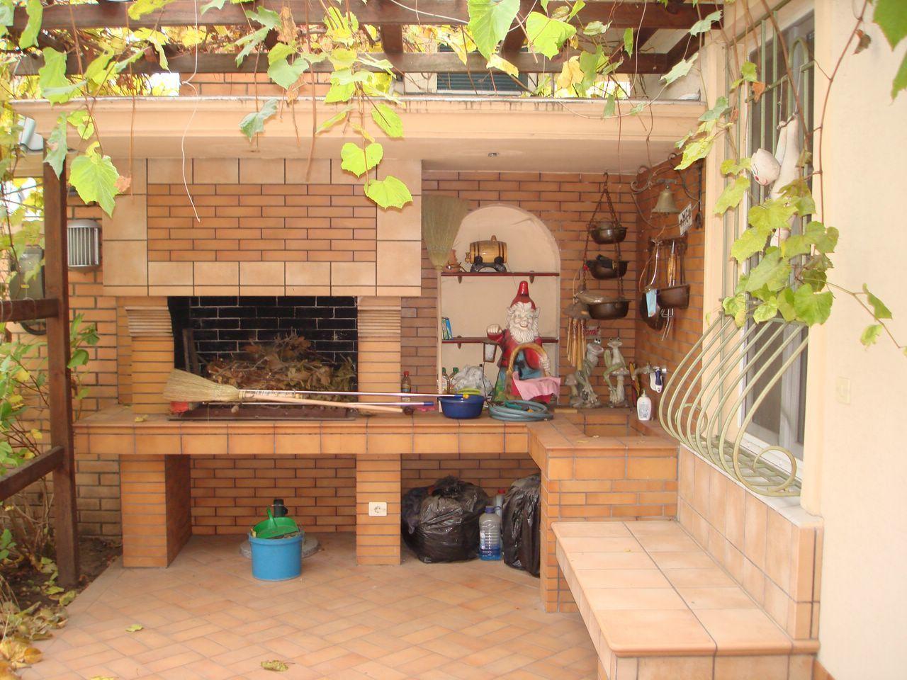 Терраса с мангалом к дому своими руками фото