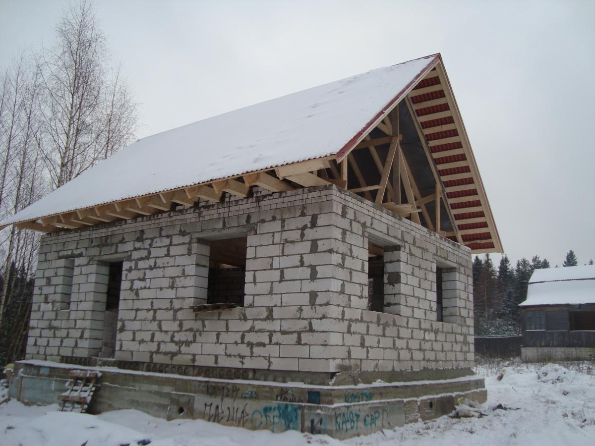 Как построить дом из газосиликатных блоков своими руками