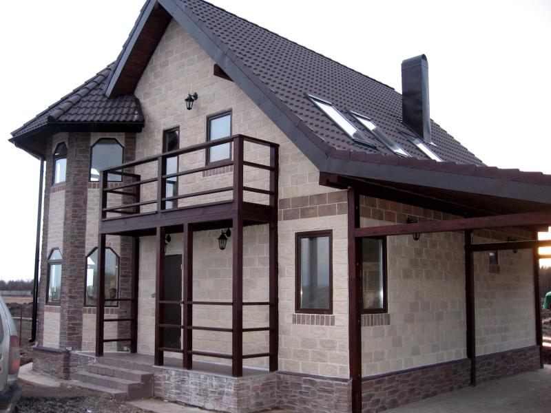 Варианты штукатурки фасадов частных домов