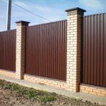 забор для частного дома - 1