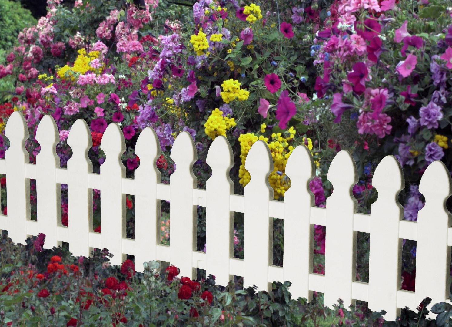 Оградка для цветов из дерева своими руками