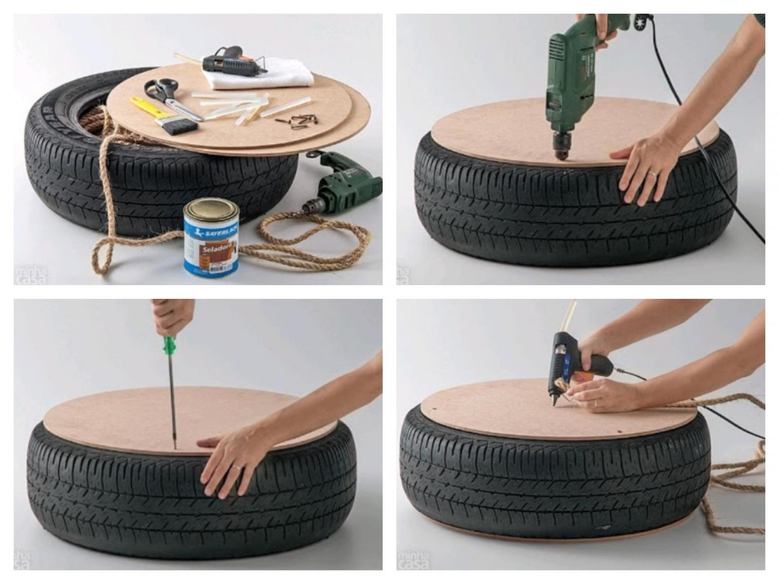 Как делать своими руками из покрышки