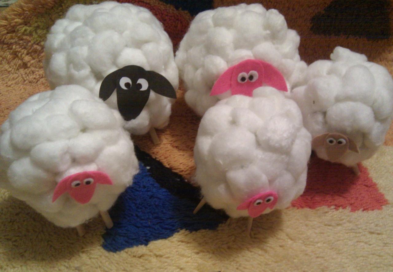 Сделать овечку своими рукам