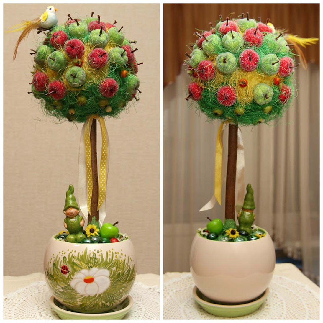 Деревья из яблок своими руками