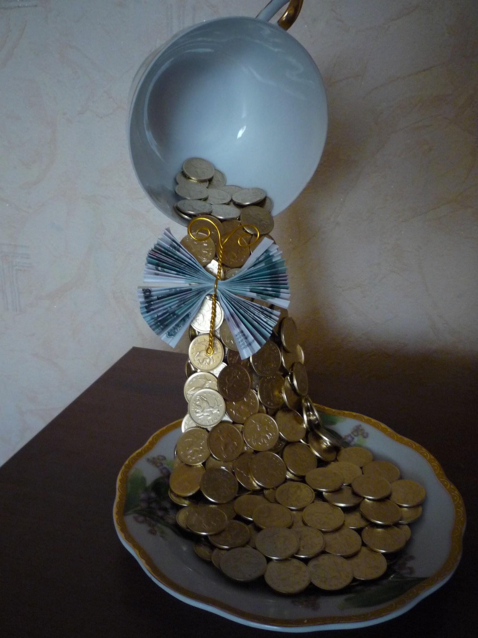 Денежный топиарий монетами своими руками мастер класс