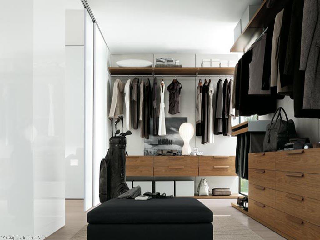Практичная гардеробная комната - 30 фото дизайна гардеробной.