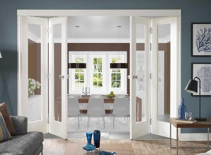 стеклянные двери в интерьере