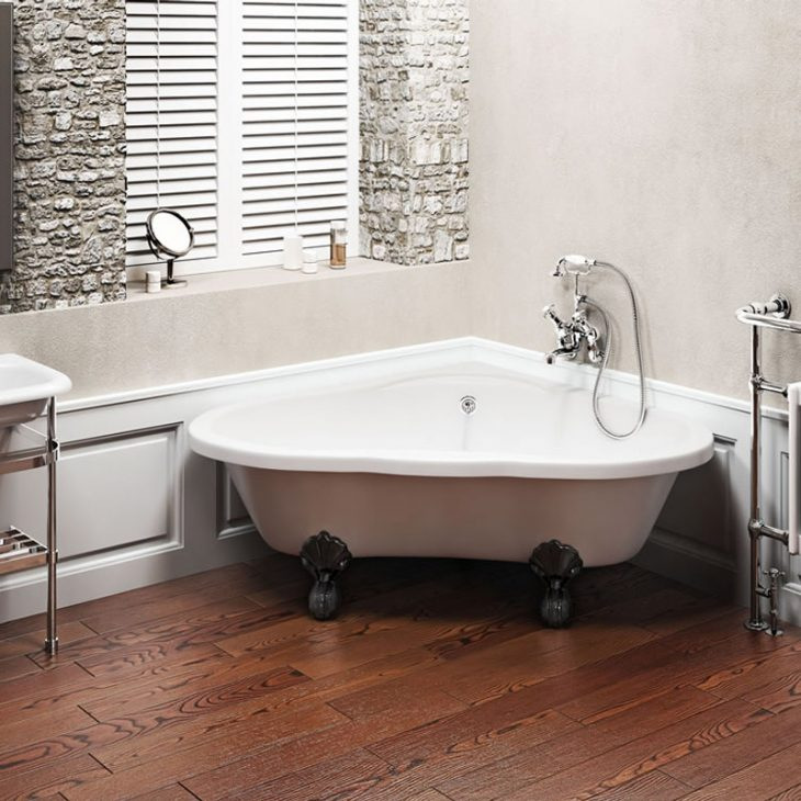 дизайн ванны с угловой ванной