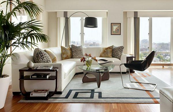 модульные диваны в интерьере гостиной фото