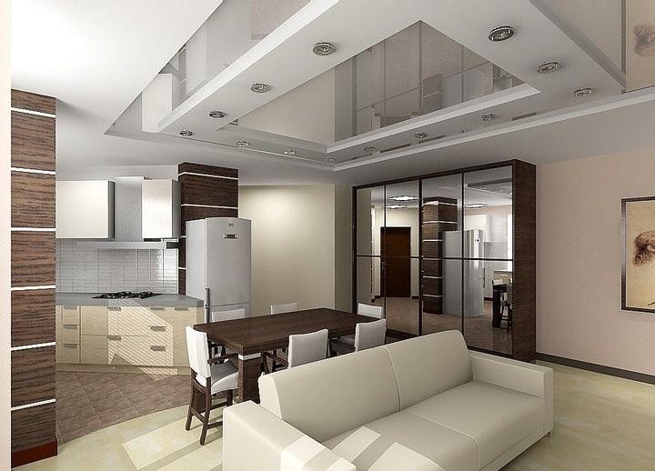 современный дизайн натяжных потолков