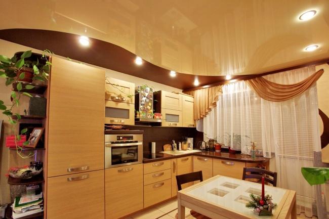Дизайн натяжных потолков. 35 фото дизайнерских идей