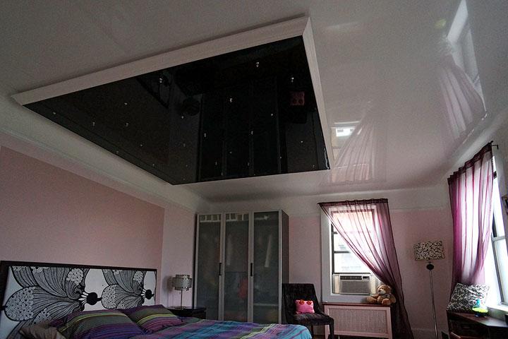 дизайн потолков натяжных потолков фото
