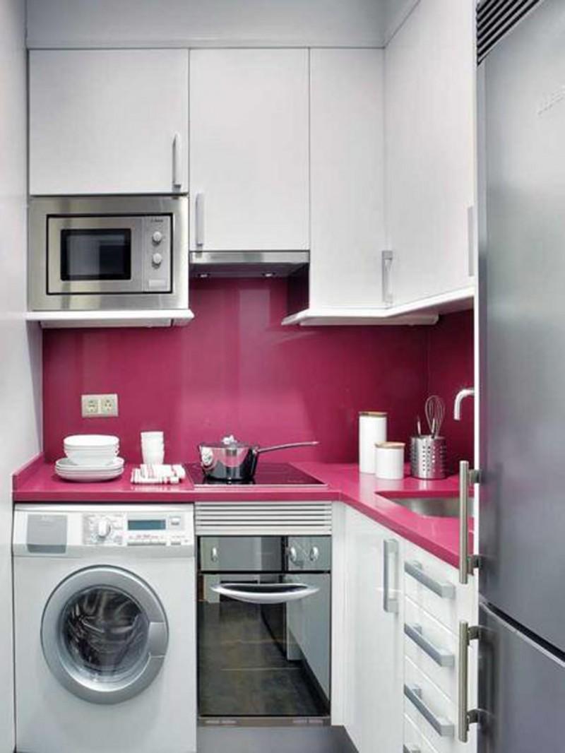 Маленькие кухни 6 кв.м с холодильником дизайн