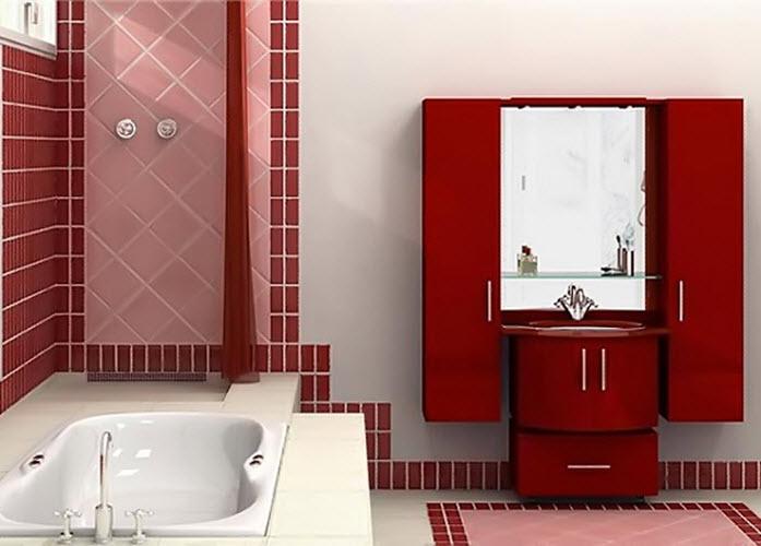 Ванна в плитке модный дизайн фото