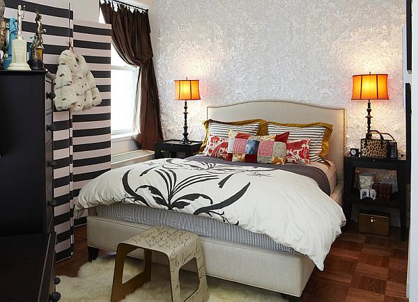 современный дизайн маленькой спальни фото