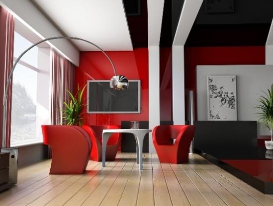 красный интерьер фото