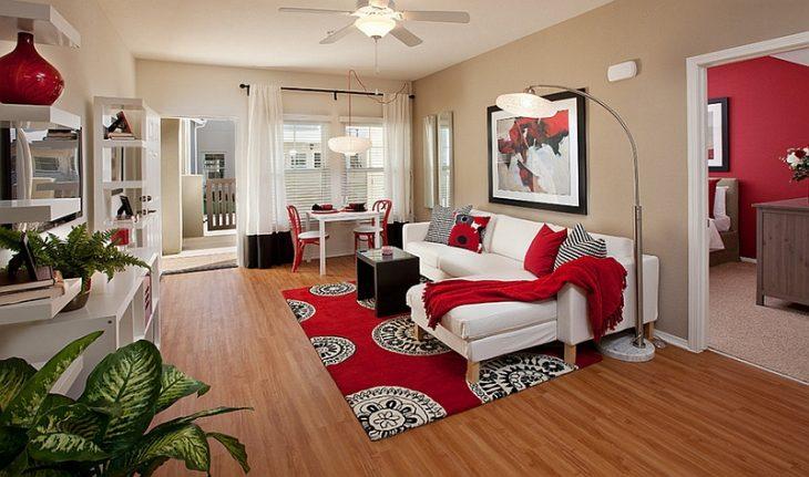Красный интерьер – 45 фото идей дизайна комнат