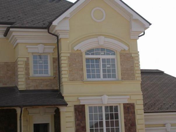 Пенополистирол в качестве декоративного элемента фасада