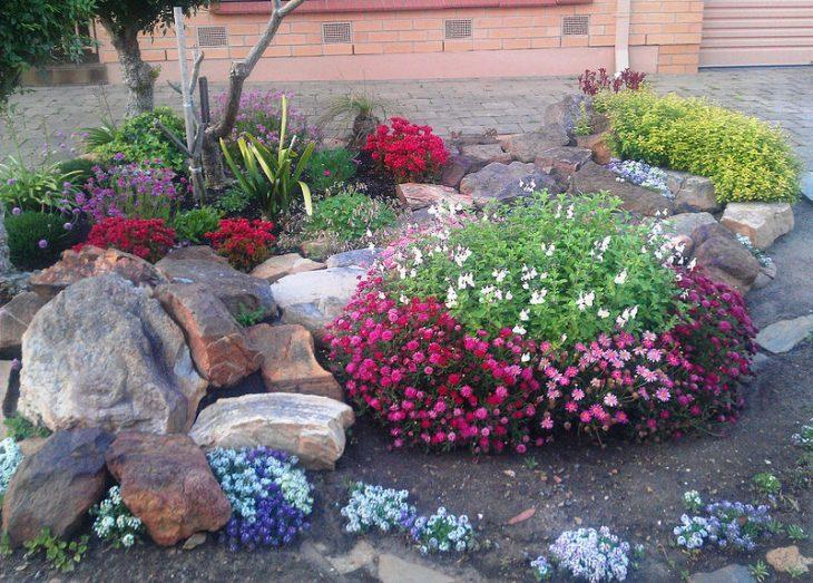 Рокарий - каменистый сад. 40 фото дизайна рокария