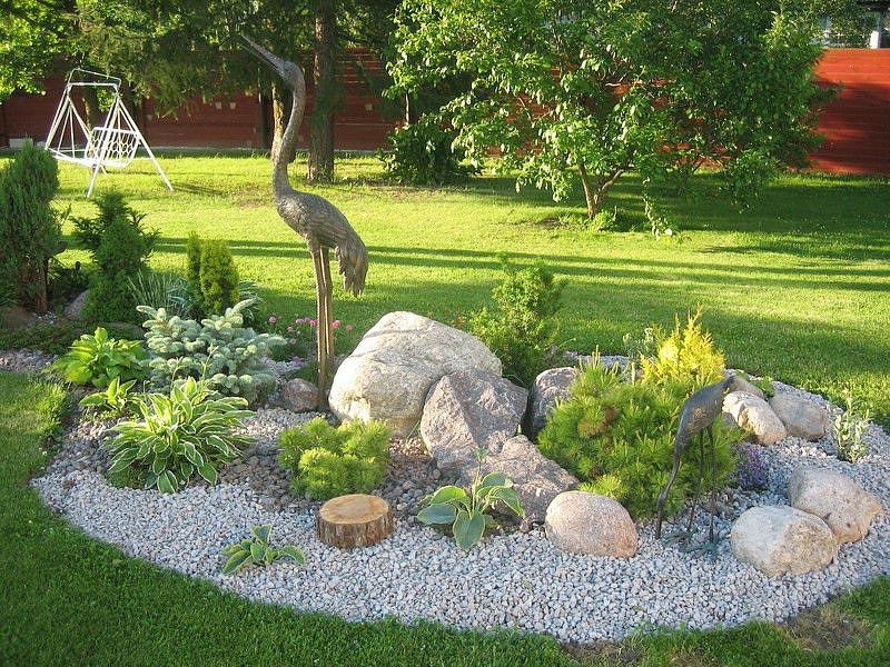 Сад камней своими руками на участке пошагово
