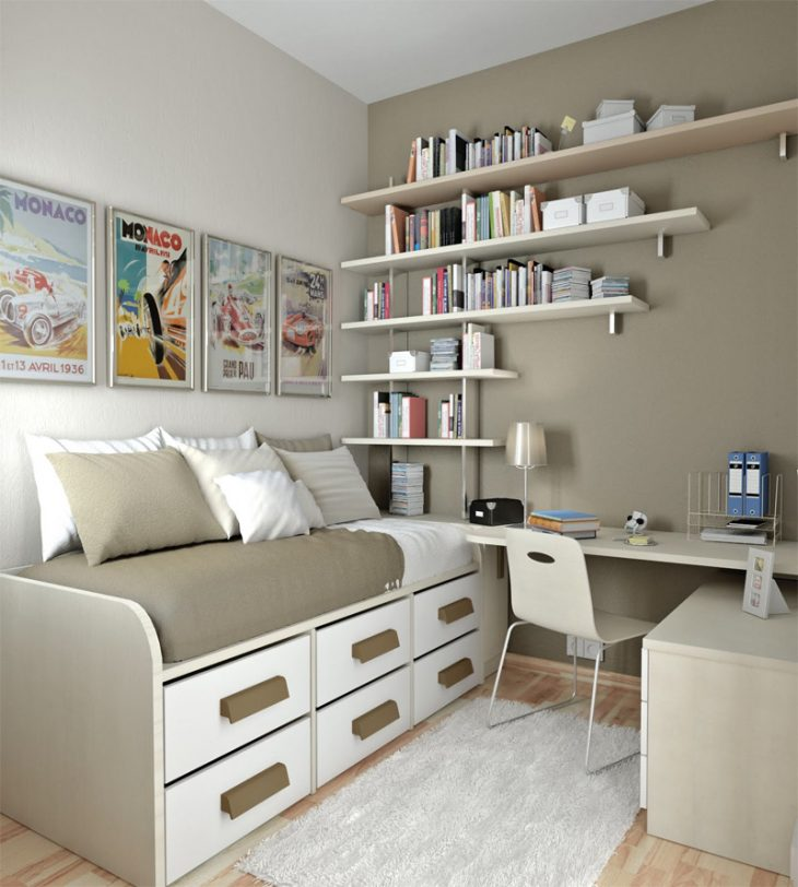 интерьер спальни для подростка