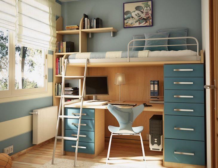 узкие спальни для подростков