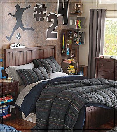 классическая спальня для подростка