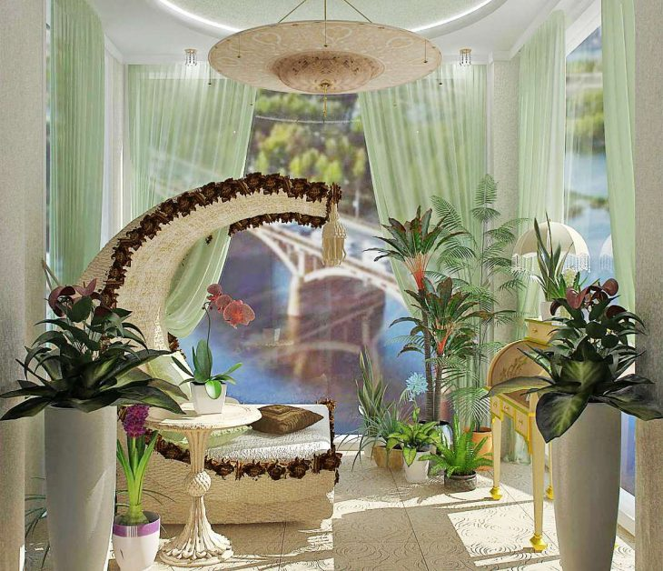 дизайн зимнего сада в квартире