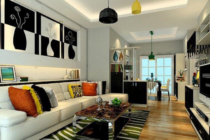 зонирование комнаты гостиной фото