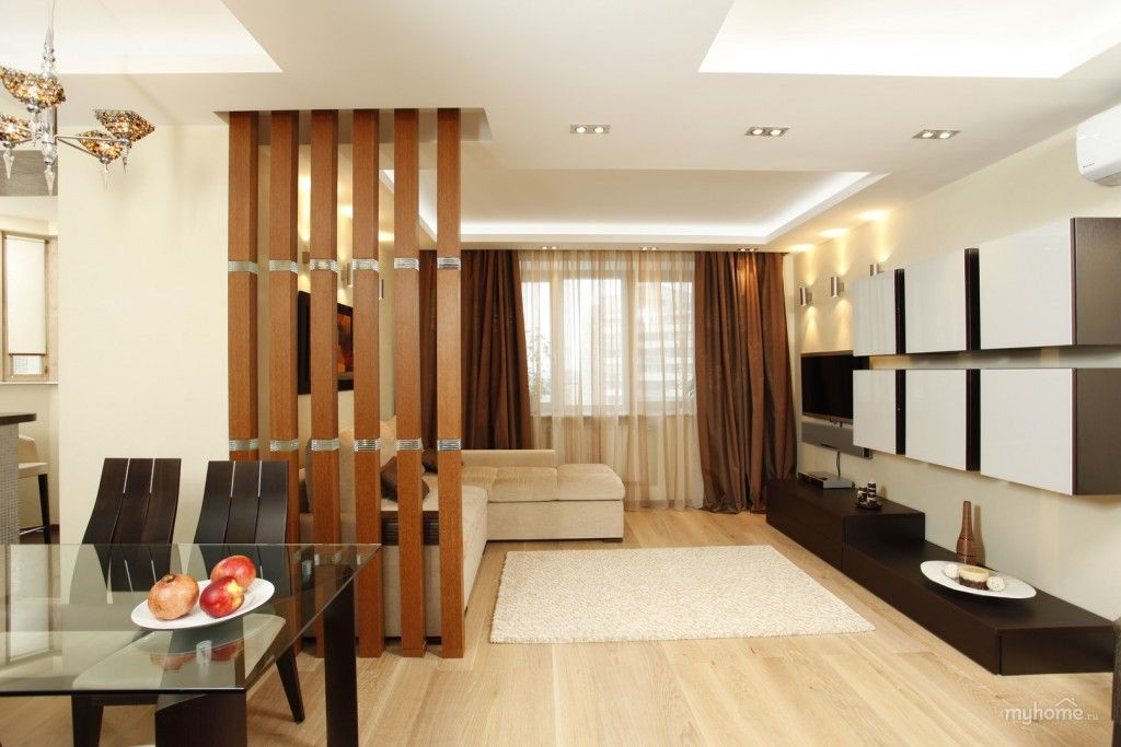 Дизайн перегородок в гостиной фото