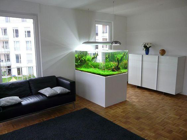 аквариум в дизайне интерьера
