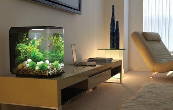 Современный аквариум в интерьере квартиры - 30 фото дизайнерских идей