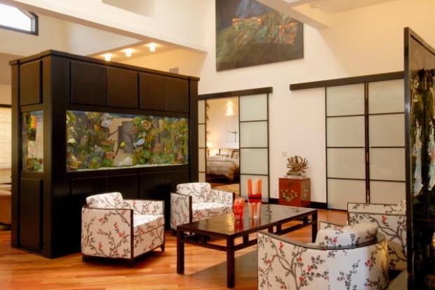 Аквариум в интерьере квартиры - 35 фото дизайнерских идей