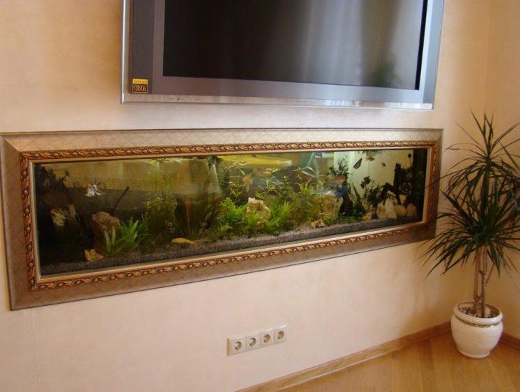аквариум в интерьере квартиры фото