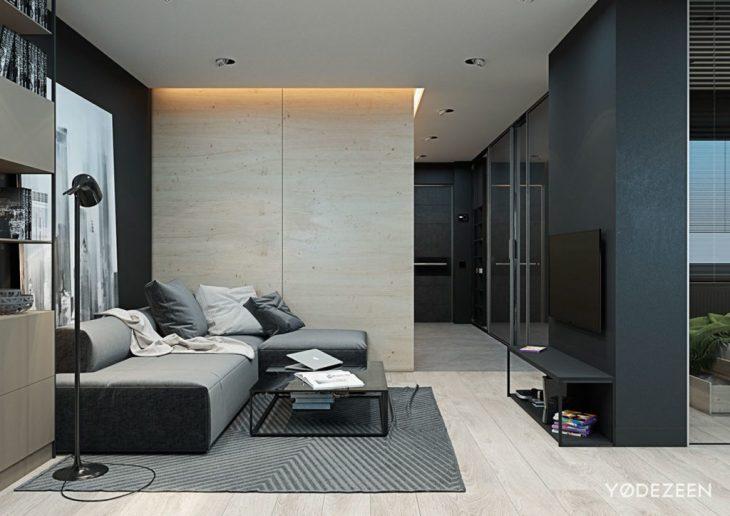 современные интерьеры квартир студий