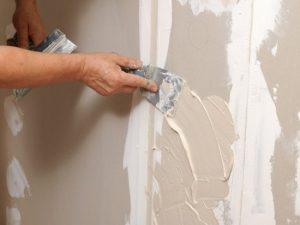 Шпаклевка и выравнивание стен