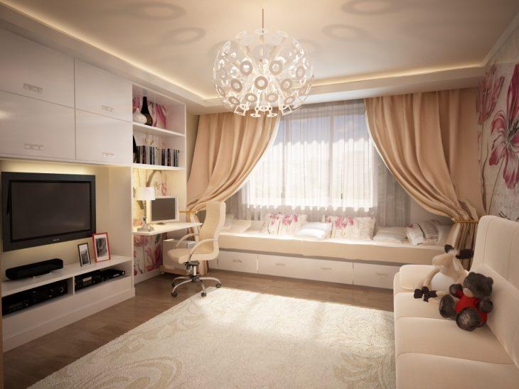 дизайн интерьера однокомнатной квартиры студия