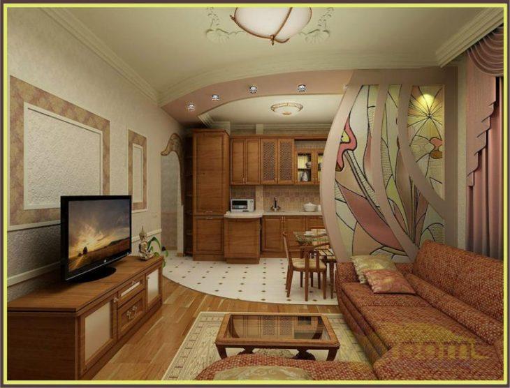 однокомнатная квартира студия интерьер дизайн фото