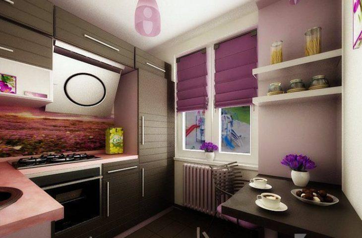 интерьер кухни хрущевки 6 кв м