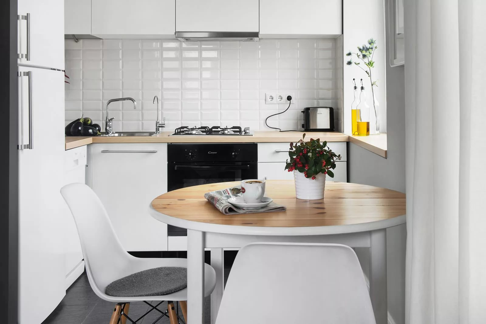 Интерьер компактной кухни фото современные идеи