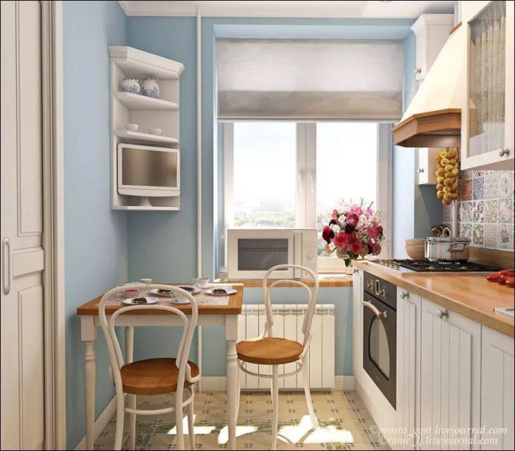 интерьер маленькой кухни в хрущевке фото