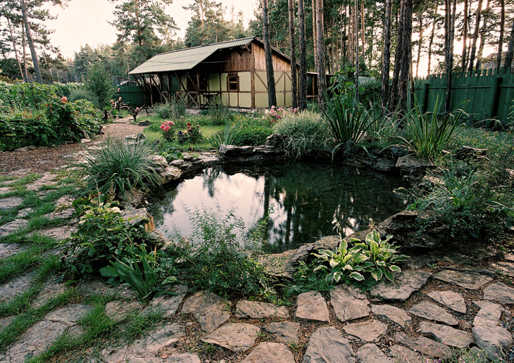 деревенский ландшафтный дизайн