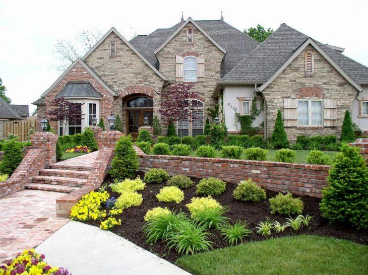 красивый ландшафтный дизайн загородного дома