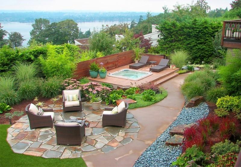 Ландшафтный дизайн загородного дома 6 соток - 55 фото лучших идей