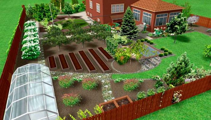 современный ландшафтный дизайн загородного дома