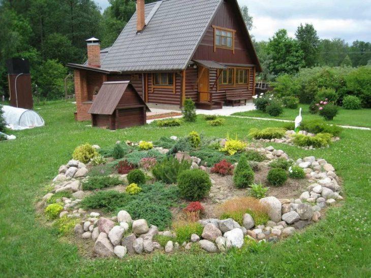 ландшафтный дизайн загородного дома 6 соток